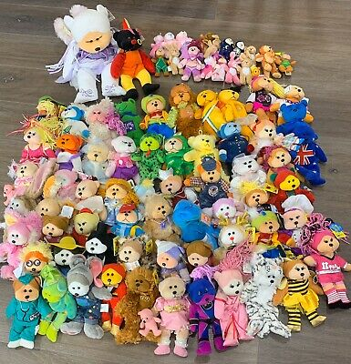 Bulk Lot 80+ Beanie Kids, Tiny Beany, Cuddly Kid Easter Bunny, Great Collection
