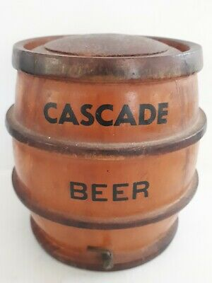 Rare Cascade Beer Brewery Advertising Wooden Keg with Brass Tap.