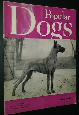 Popular Dogs Magazine Champion Great Dane Cover by Rudolph Tauskey June 1954