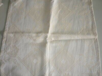 6 X Cotton Square Pieces Of Fabric With 6 X Diamond Panels Suitable For Xstitch