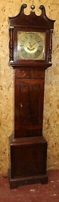 1900's Mahogany 8 Day Brass Face Grandfather Clock -William Webb