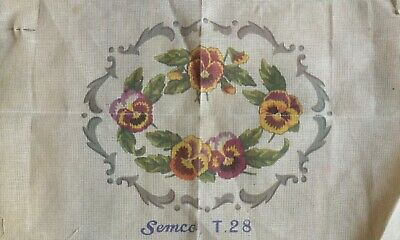 Semco Tapestry Canvas - Pansies - to be stitched