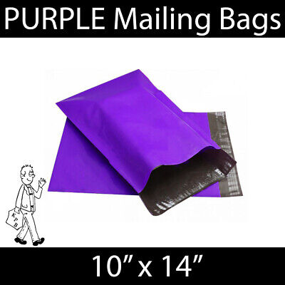 "Strong PURPLE Mailing Bags Postal Mail Self Seal Bags 10""x14"""