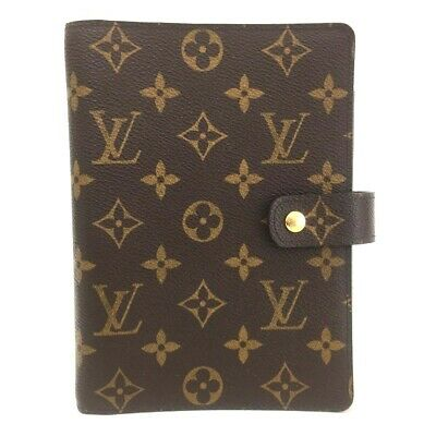 100% Authentic Louis Vuitton Monogram Agenda MM Notebook Cover / eEHF