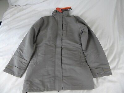 Ladies Nike Thermolite Grey Coat With Hood - Size S - 100% Polyester - New