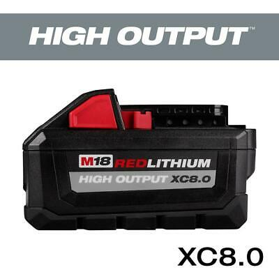 Milwaukee M18 Red Lithium High Output 18V 8.0Ah Battery 48-11-1880