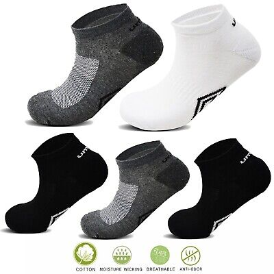 Umbro® 5/10Pairs Mens Trainer Liner Ankle Cushioned Sole Toe Sport Socks 6-11UK