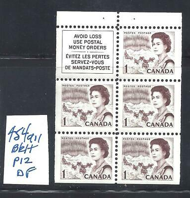 CANADA 1 CENT CENTENNIAL BOOKLET PANE SCOTT 454aii VF MINT NH (BS15000)