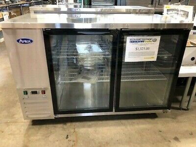 """Atosa MBB59G - Stainless Steel Back Bar Cooler, 59"""""""
