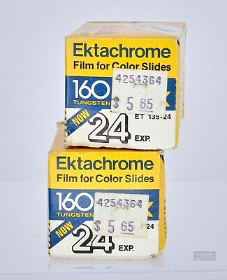 Rare 36mm Kodak Ektachrome Tungsten ISO 160 EXPIRED Slide Film 1987 2 Rolls Vtg