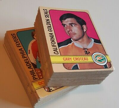 1972 - 1973 O-PEE-CHEE STARTER SET LOT 100 HOCKEY CARDS OPC  EX to EXMT