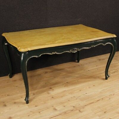 Dining Table Lacquered Venetian Furniture Living Wood Painting Antique Style 900