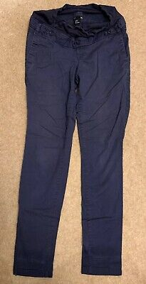 H&M Maternity 8-10 Trousers Navy Blue