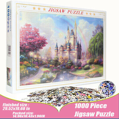 Adult Puzzles 1000 Piece Jigsaw Puzzle Landscapes Decompression Game  Difficulty
