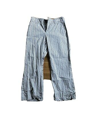 Cabi Womens Navy Blue and White Stripped pants Size 6
