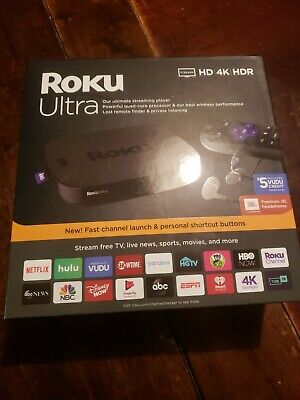Roku Ultra Streaming Media Player 4K HD HDR 2019 w/ Premium JBL Headphone 4670RW