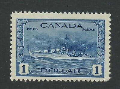Canada MNH WWII Stamp No.262 $1.00 Destroyer MNH VF/XF Guide Value = $120.00