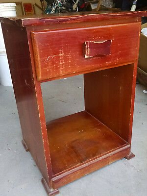 Franciscan Furniture COWBOY Spanish Revival MONTEREY RANCHO NIGHT STAND BRANDED