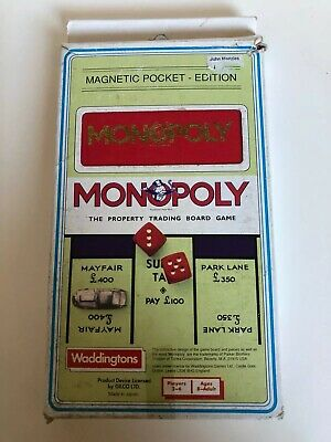 Monopoly Magnetic Board Games Vintage Family Travel