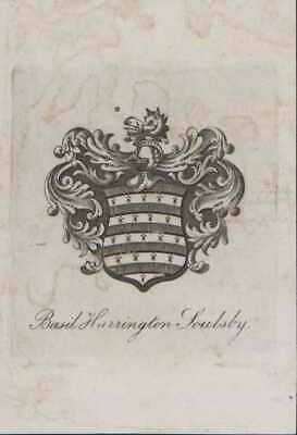 Basil Harrington Soulsby, British Museum Librarian, historian bookplate    QY703