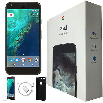 Google Pixel 5-inch, 32GB, Quite Black, Factory Unlocked, Open Box, and Bundle!