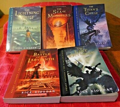 Percy Jackson and the Olympians Series Set 1-5 Rick Riordan 1 2 3 4 5 Paperbook