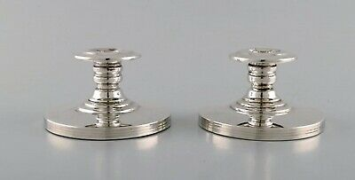 Swedish silversmith. A pair of candlesticks in silver. 1930 / 40s.