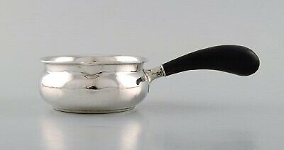 Danish silversmith. Butter pot in silver (830) with ebony handle. Dated 1947