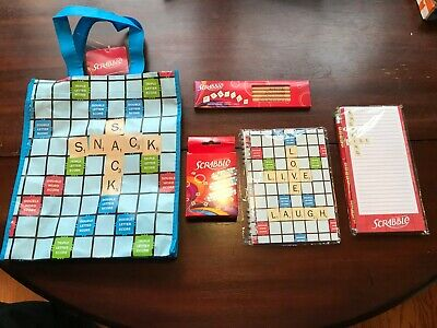 NEW SCRABBLE Lovers Board Game Party Gift Set – FUN Grab Bag of Goodies!