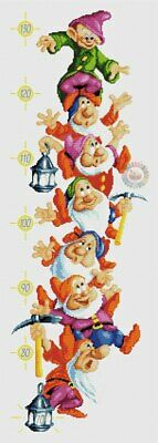 7 Dwarfs Height Chart Cross Stitch Chart
