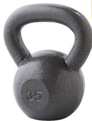 Weider Cast Iron 35 lb Kettlebell with Hammertone Finish