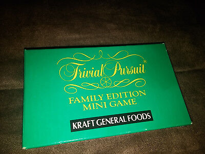 RARE Trivial Pursuit Family Edition Mini Game Kraft General Foods Promotional