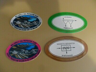 Clutha Wollondilly Washery Coal Mining Stickers