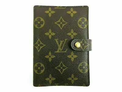 Auth Louis Vuitton Monogram Agenda PM R20005 Day Planner Cover 81865
