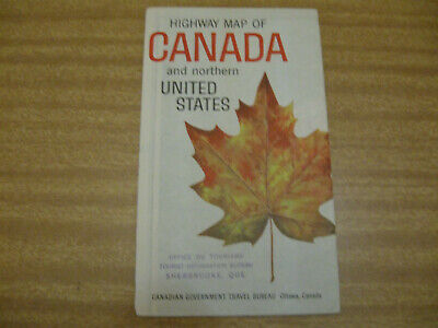 Vintage Highway map of Canada & Northern USA