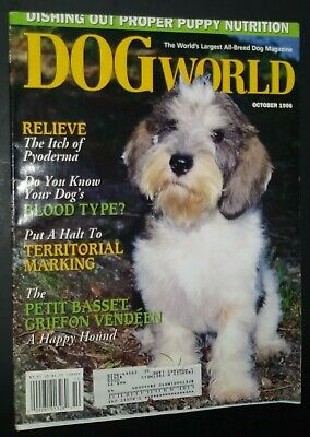 Dogs World Illustrated Magazine Petit Basset Griffon Vendeen Cover 1996