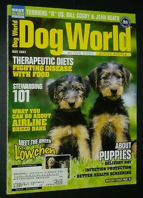 Dogs World Illustrated Magazine Lowchen Cover + Photos & Articles May 2003