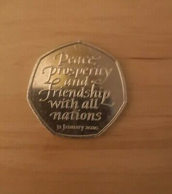 New Brexit 50p Coin 2020 Fifty Pence Rare Collectible