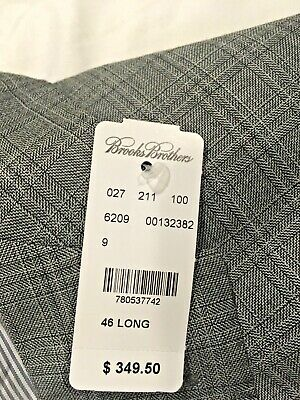 Men's Gray Brooks Brothers Explorer Regent Fit Wool BlazerJacket 46L