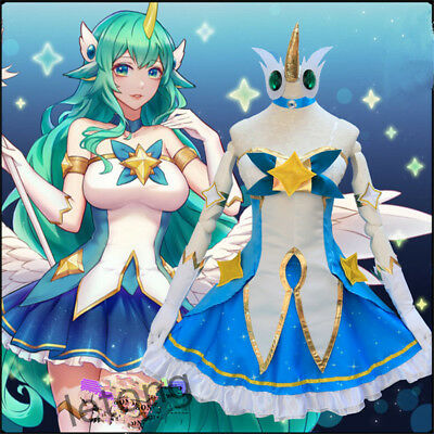 LOL Star Guardians Soraka Dress Cosplay Party League of Legends Outfit Suit Hot