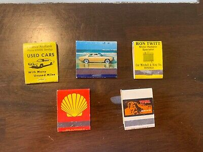 5 Car Related Match Boxes