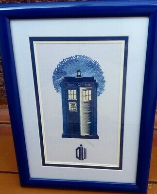 Tardis Dr Who Cross Stitch Chart