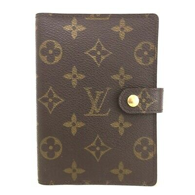 100% Authentic Louis Vuitton Monogram Agenda PM Notebook Cover /ee249