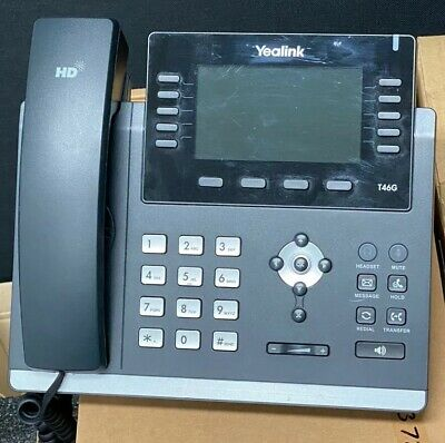 Yealink SIP-T46G IP Phone 16 SIP Gigabit Colour Display IP Phone