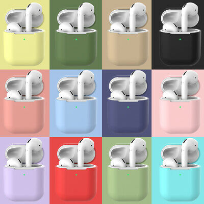 For Apple AirPods 2 Case Cover Soft Silicone Skin AirPod Earphones Charger Cases