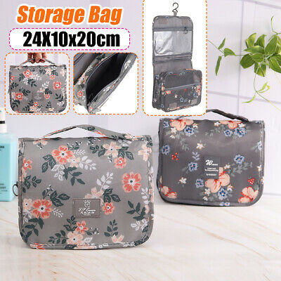 Travel Cosmetic Storage MakeUp Bag Folding Hanging Organizer Pouch Toiletry Case