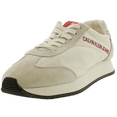 Calvin Klein Men's Jerrold Nylon / Suede Ankle-High Leather Training Shoes
