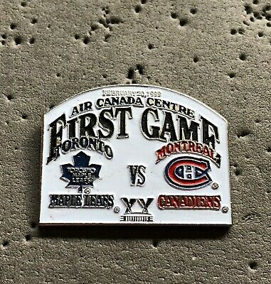 Toronto Maple Leafs Air Canada Centre First Game NHL Hockey Pin