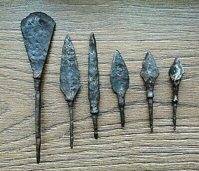Ancient Iron Arrowheads Viking Age 6 psc