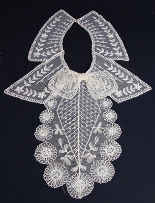 Stunning Antique Cream Vintage Victorian Style Lace Collar